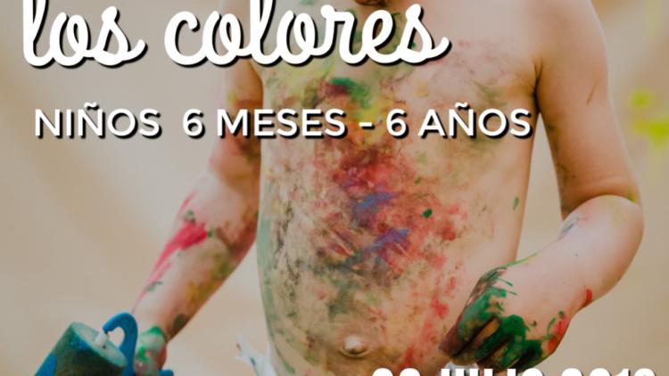 Taller sensorial en familia. Descubriendo los colores. Madrid, chamartin 2019