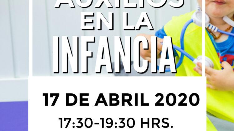 Charla Taller Primeros auxilios para niños. abril 2020 madrid
