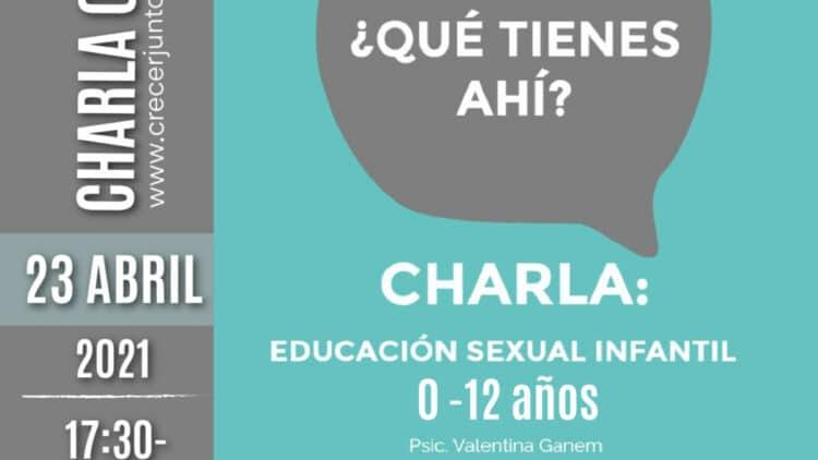 Charla online: Educación sexual Infantil