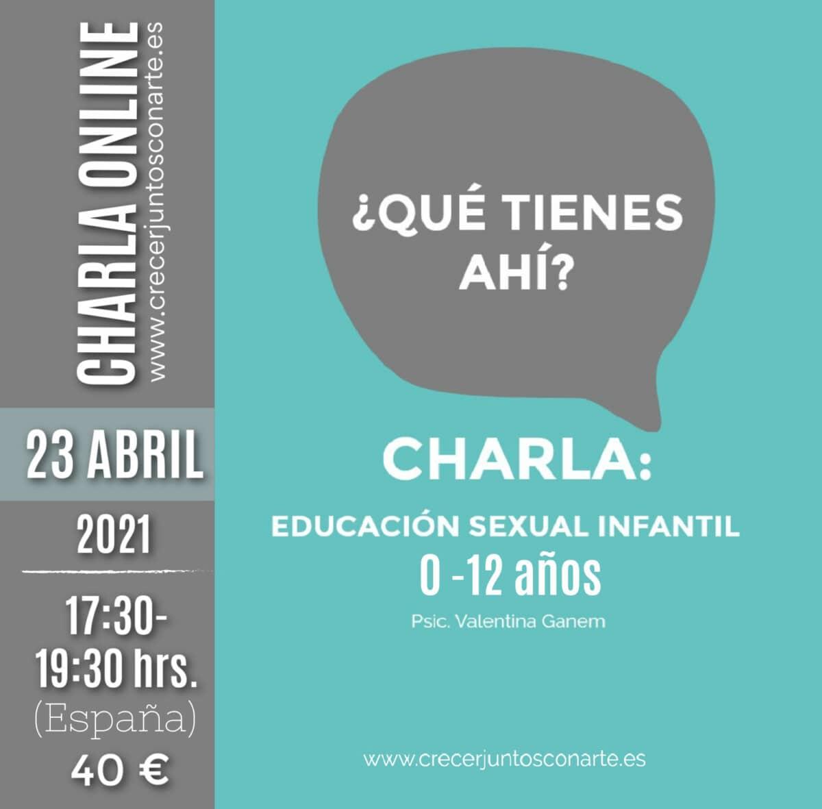 charla educacion sexual infantil